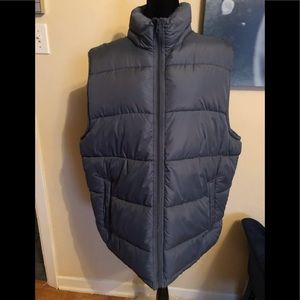 GAP blue quilted vest